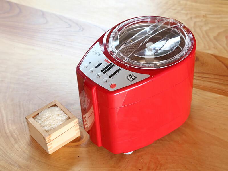 プレゼントとして検討中の卓上精米機「匠味米RC52」(山本電気株式会社様)色は白、黒、赤の3種類から
