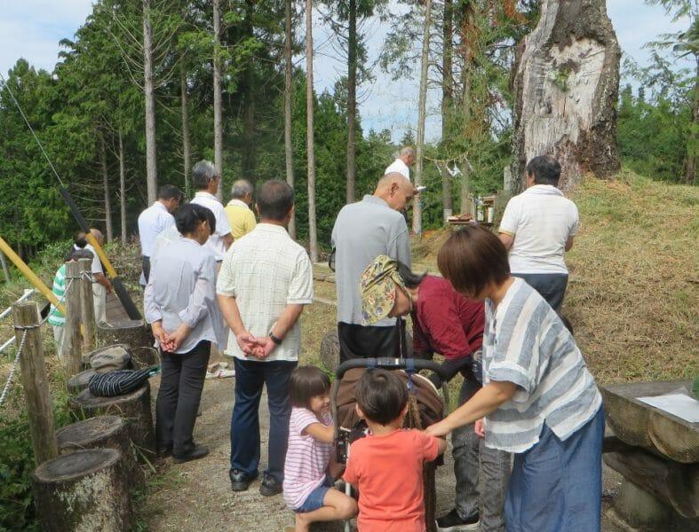 風神社祭礼に集まった押井の面々